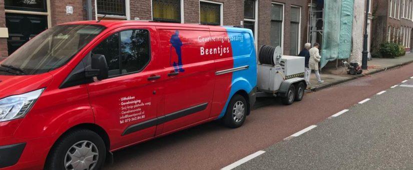 Aan het werk in het centrum van Haarlem
